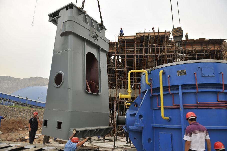 年产100万吨矿渣微粉项目进入全面安装阶段