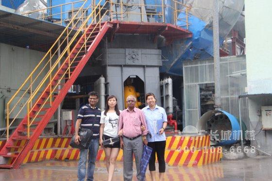 长城机械热烈欢迎印度客户来厂考察大型水泥立磨机