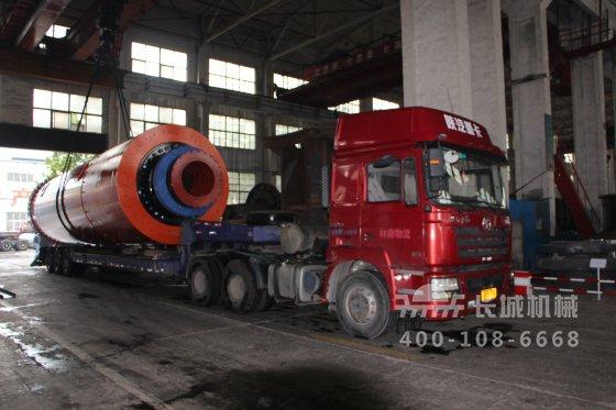 山东某水泥厂引进长城机械两台φ3.2×13m水泥球磨机