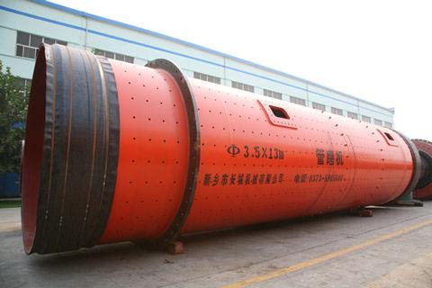 长城机械为广西梧州水泥公司提供高质量的Φ3.5×13m双滑履三仓高细磨